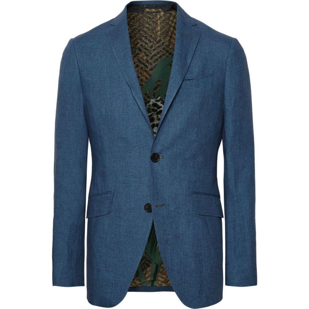 エトロ ETRO メンズ スーツ・ジャケット アウター【blazer】Blue