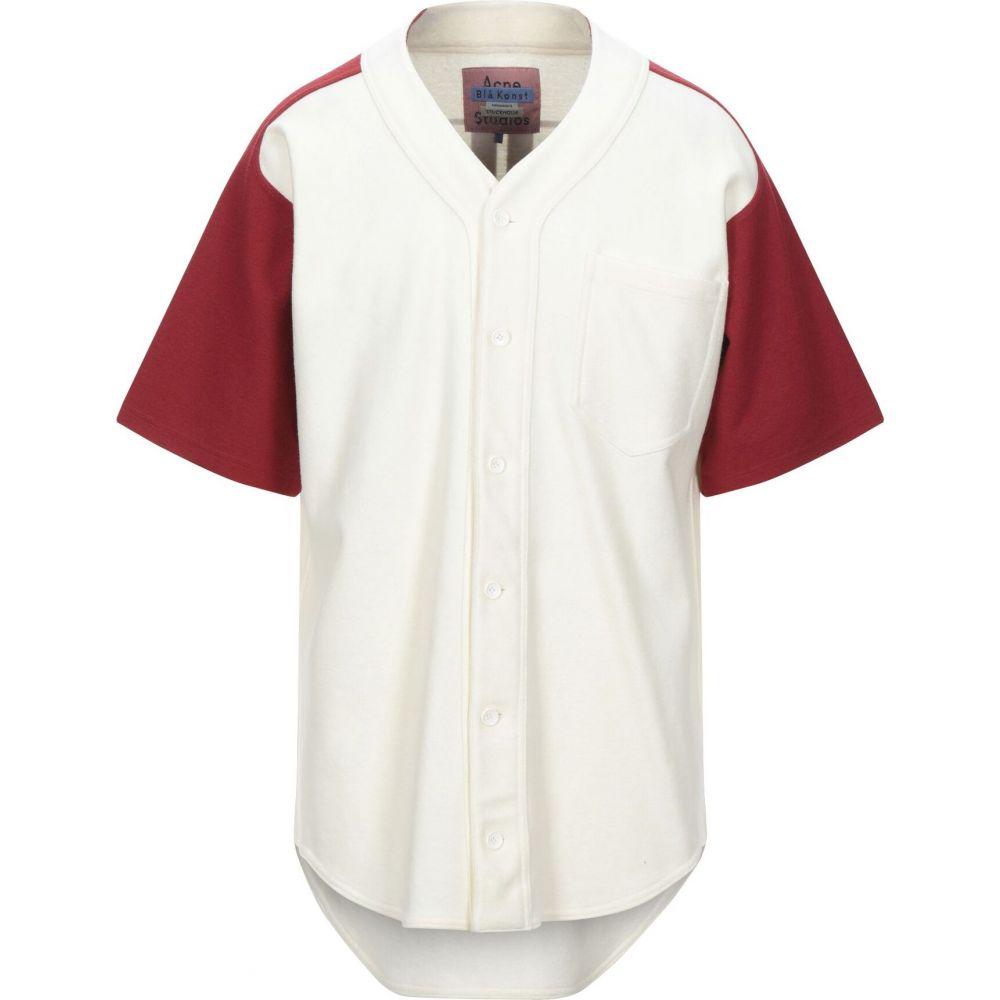 アクネ ストゥディオズ ACNE STUDIOS メンズ シャツ トップス【patterned shirt】Ivory