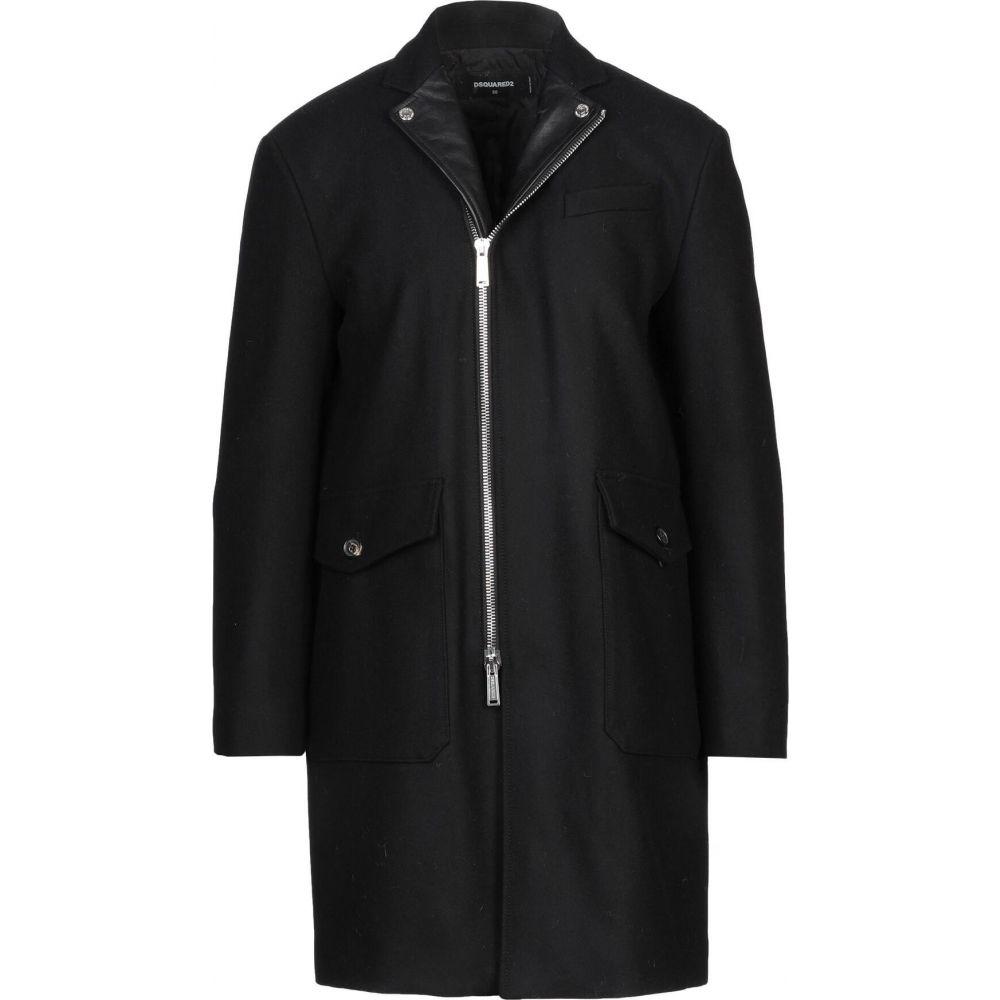 2021春の新作 ディースクエアード DSQUARED2 メンズ コート アウター【coat】Black, 石川町 0b956a67