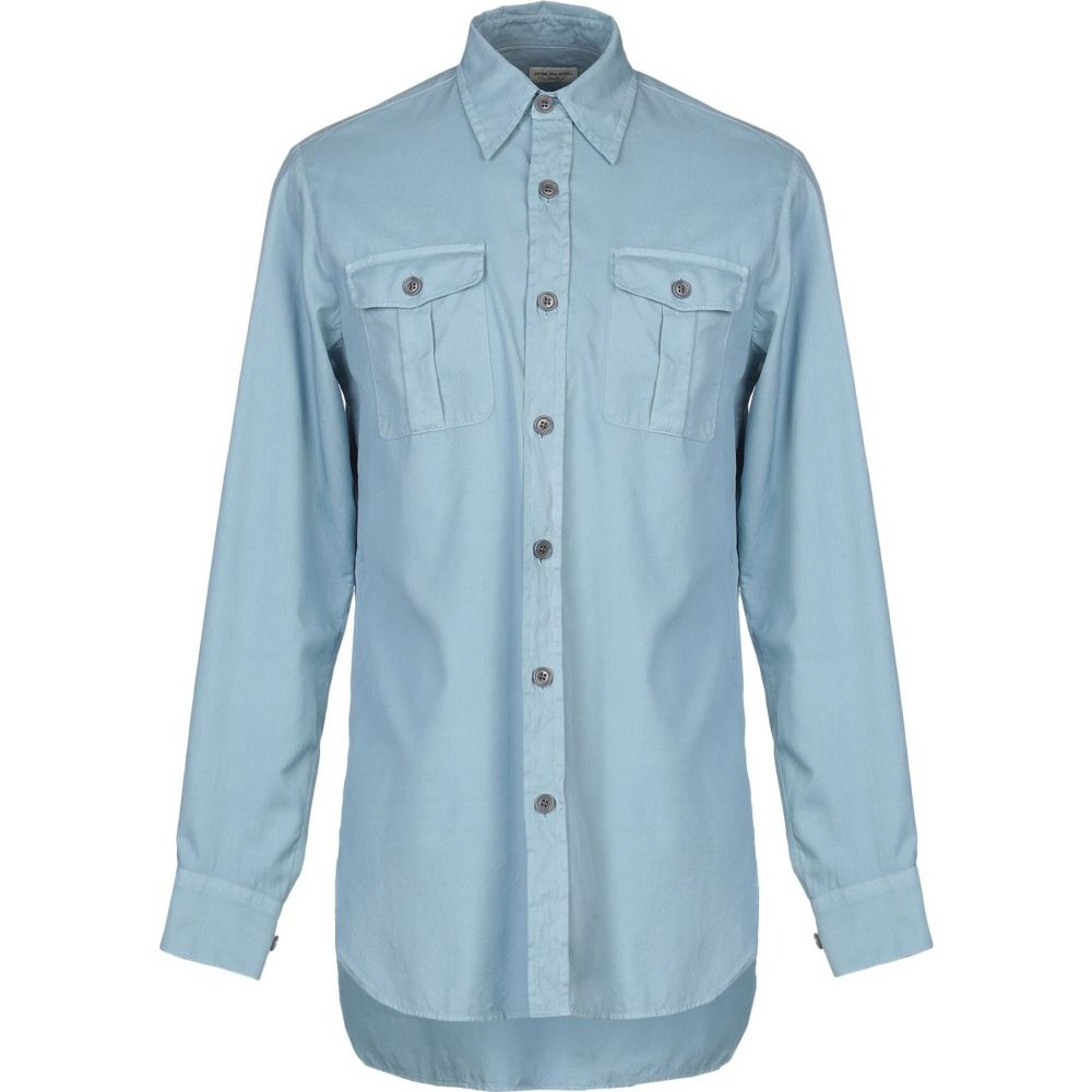 DRIES VAN シャツ color NOTEN トップス【solid ヴァン ノッテン ドリス blue shirt】Sky メンズ