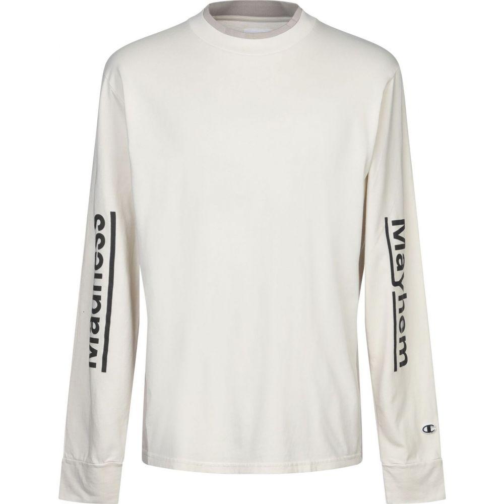 チャンピオン CHAMPION x WOOD WOOD メンズ Tシャツ トップス【t-shirt】Beige