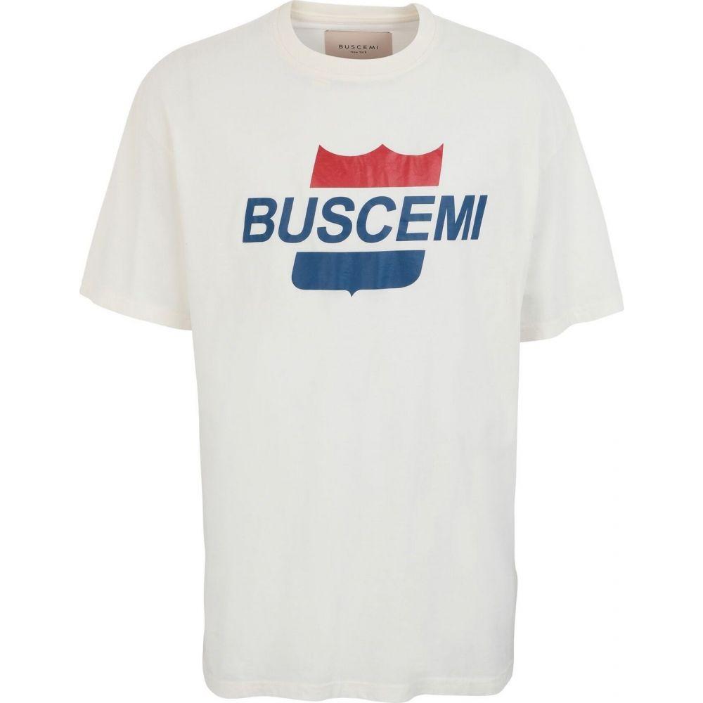 ブシェミ BUSCEMI メンズ Tシャツ トップス【airline printed t-shirt】White
