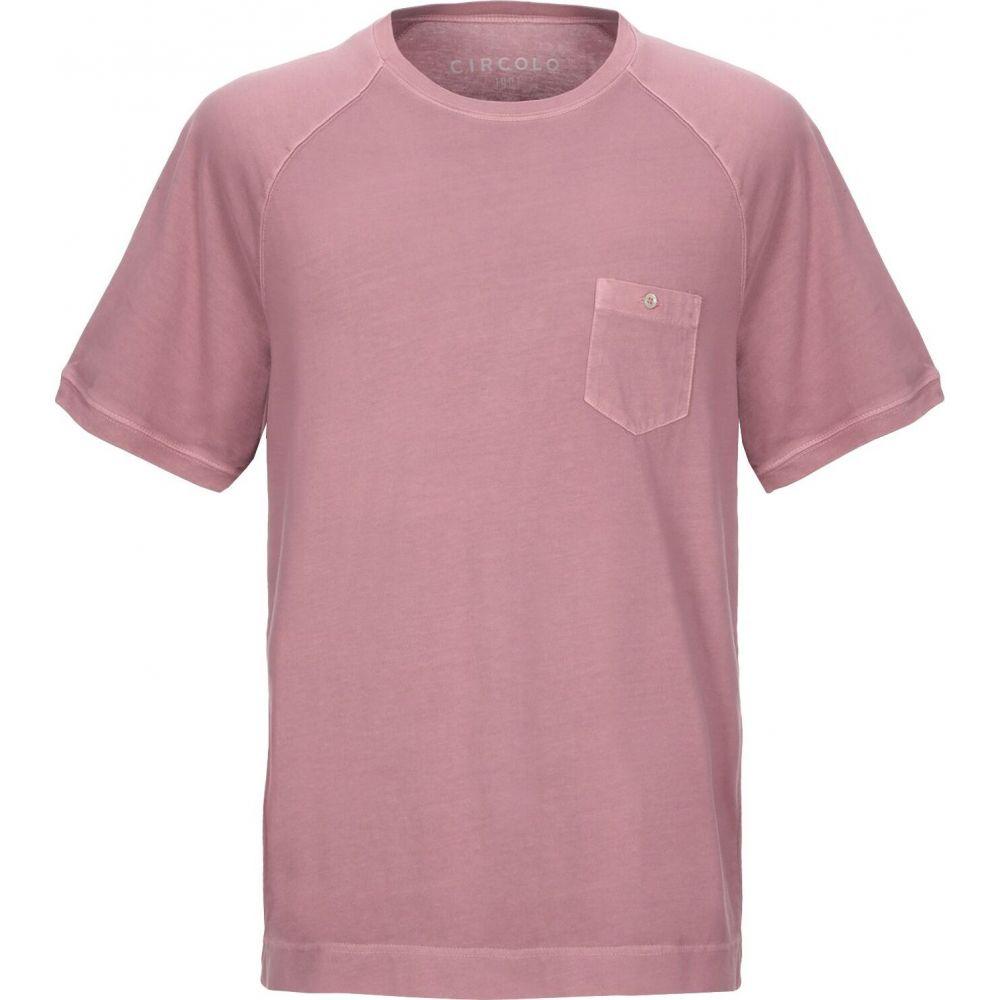 チルコロ1901 CIRCOLO 1901 メンズ Tシャツ トップス【t-shirt】Pastel pink