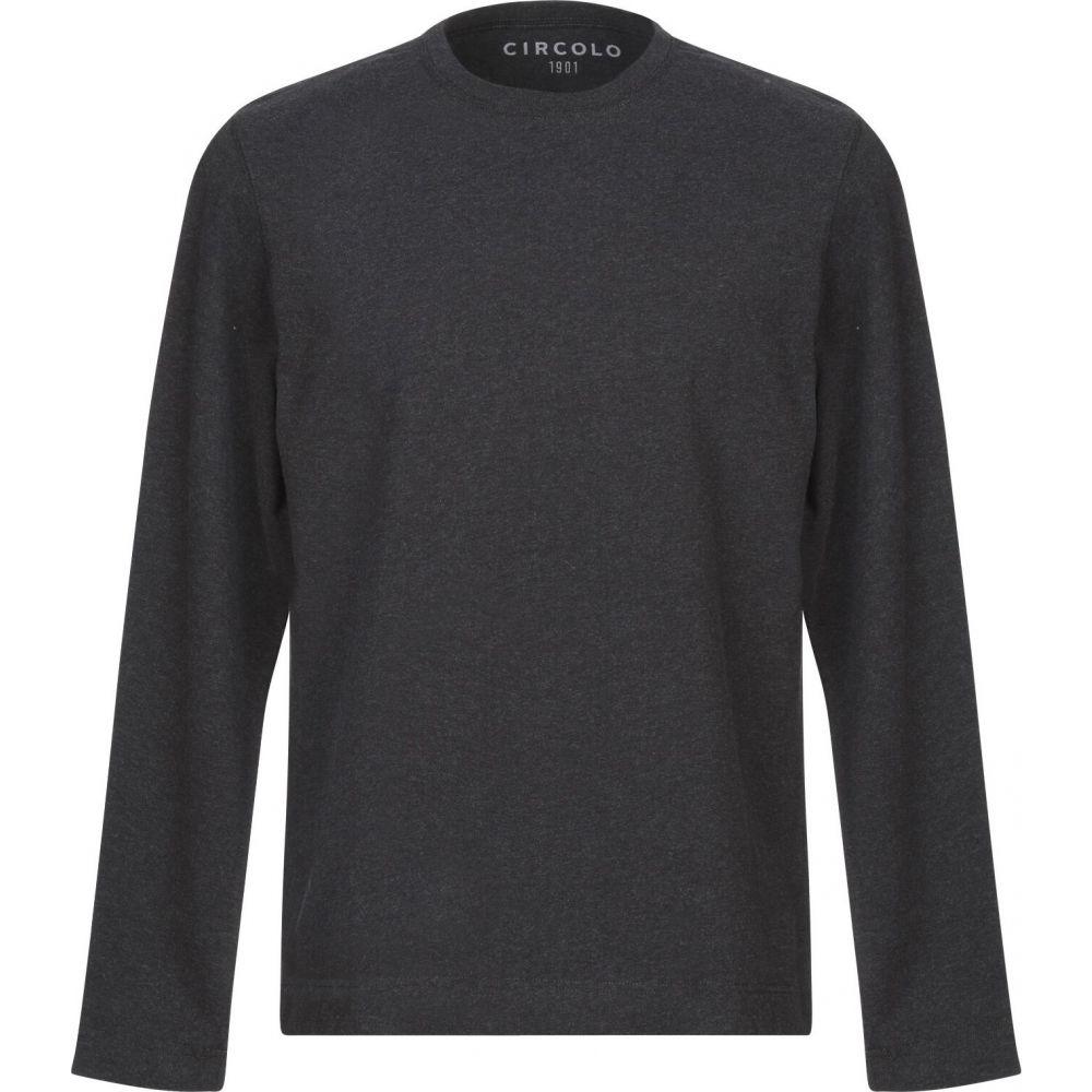 チルコロ1901 CIRCOLO 1901 メンズ Tシャツ トップス【t-shirt】Steel grey