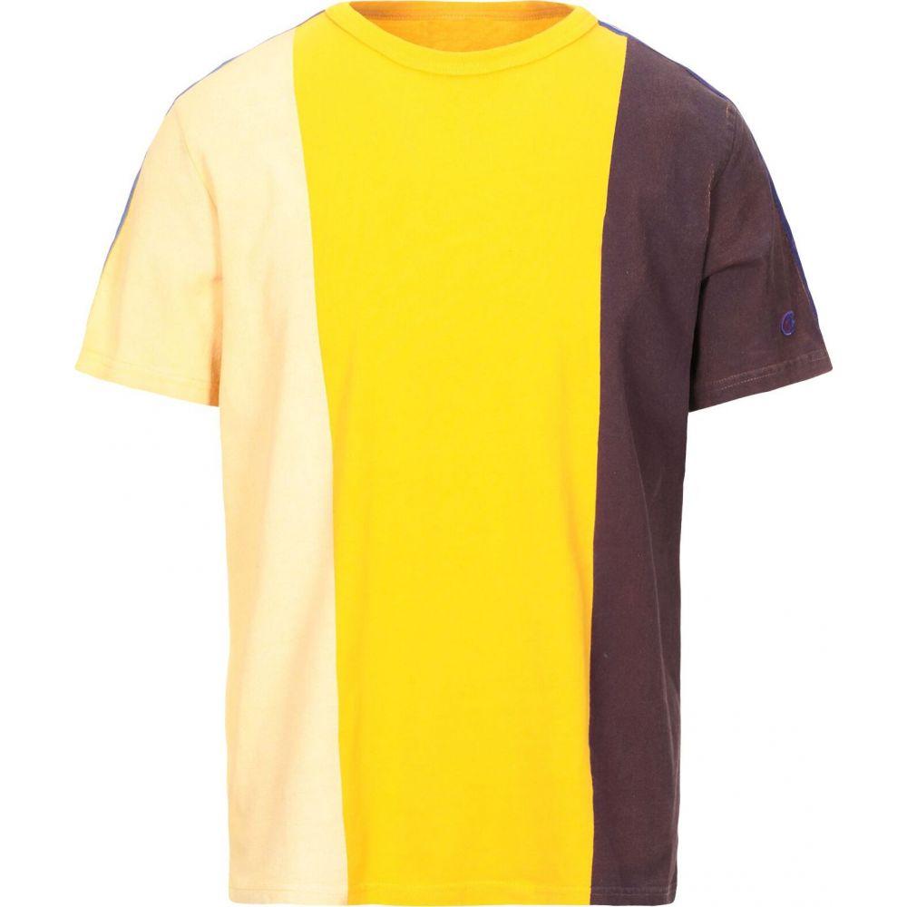 チャンピオン CHAMPION REVERSE WEAVE メンズ Tシャツ トップス【t-shirt】Yellow