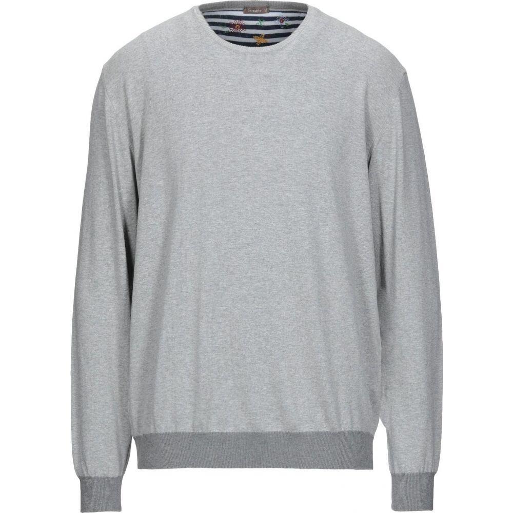 新色追加 フェランテ 在庫限り メンズ トップス ニット セーター FERRANTE sweater Light grey サイズ交換無料