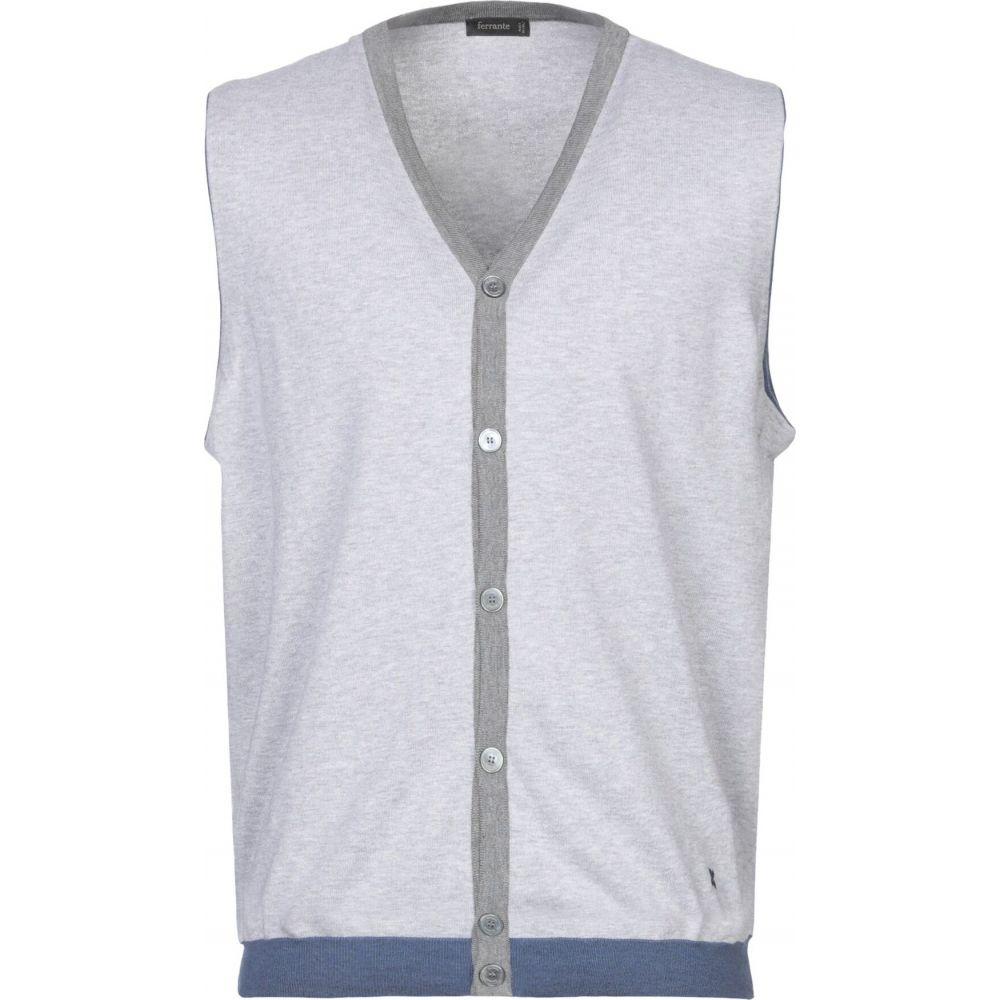 フェランテ メンズ トップス 日本未発売 『1年保証』 カーディガン Light FERRANTE grey サイズ交換無料 cardigan