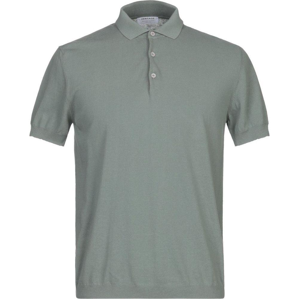 ヘリテイジ メンズ トップス ニット セーター 限定特価 HERITAGE 1着でも送料無料 サイズ交換無料 Military green sweater