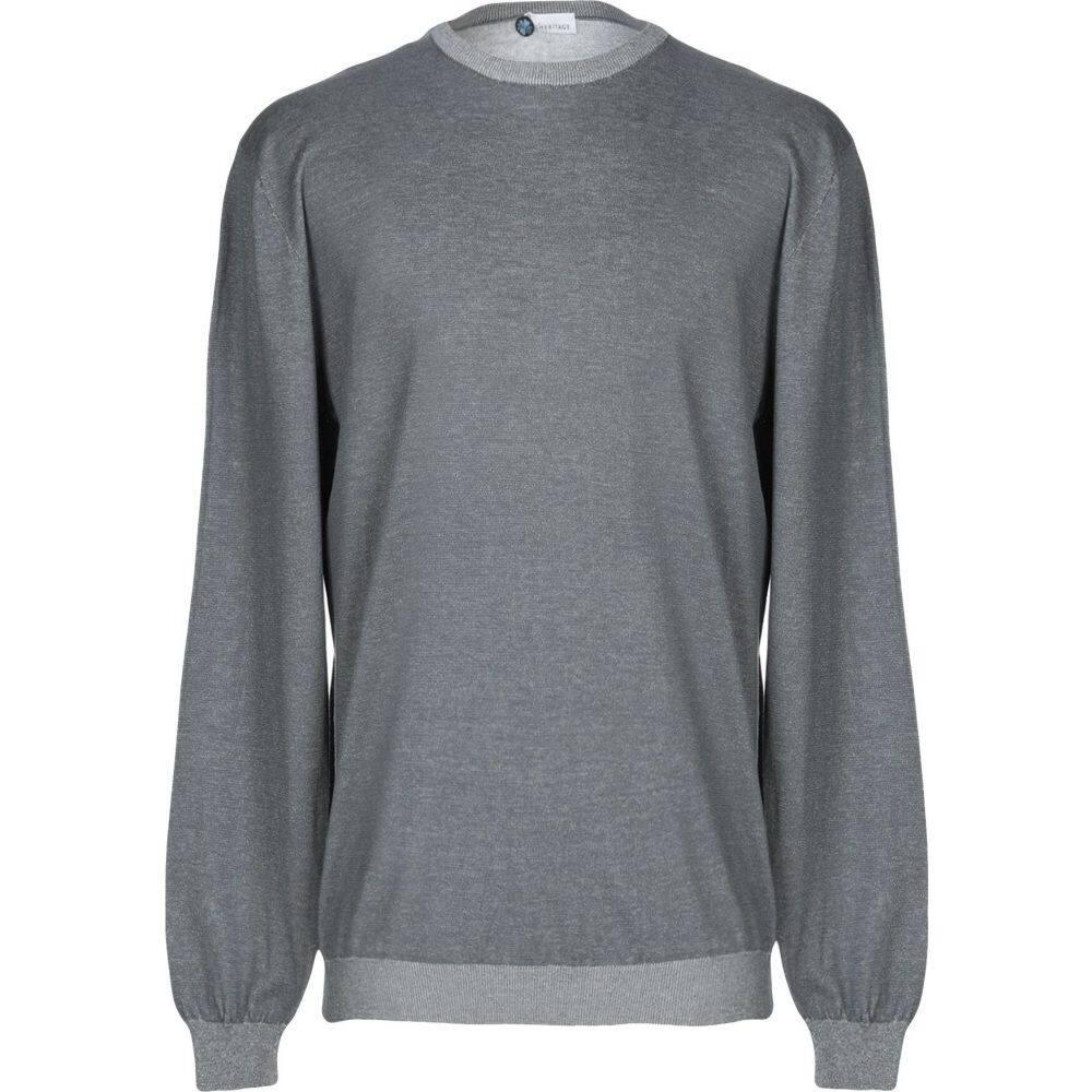 ヘリテイジ メンズ トップス いよいよ人気ブランド ニット セーター HERITAGE sweater Grey 安い サイズ交換無料
