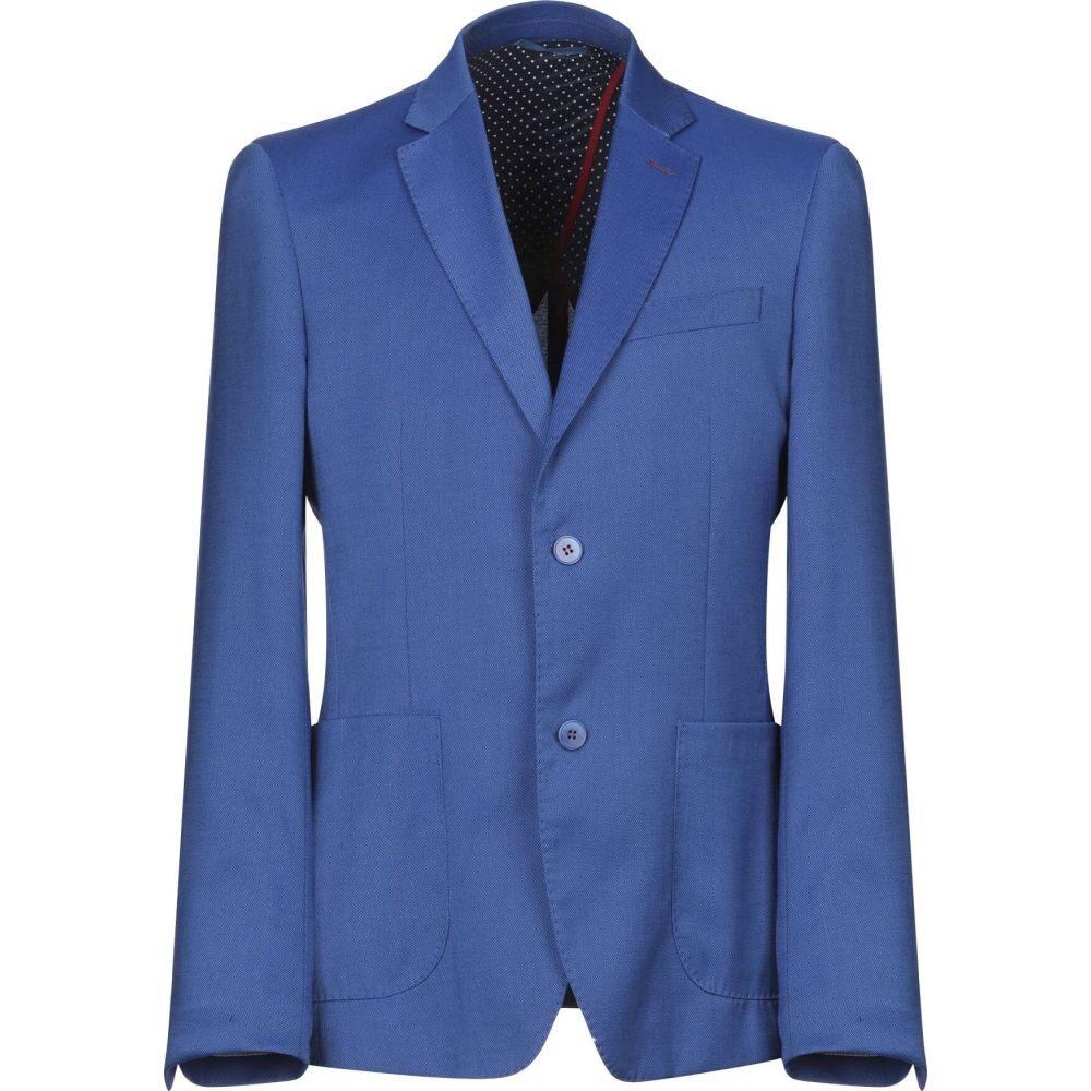 マルシアーノ メンズ アウター スーツ 信頼 新品未使用正規品 ジャケット blazer MARCIANO Blue サイズ交換無料