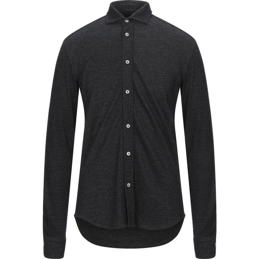 チルコロ1901 CIRCOLO 1901 メンズ シャツ トップス【solid color shirt】Black