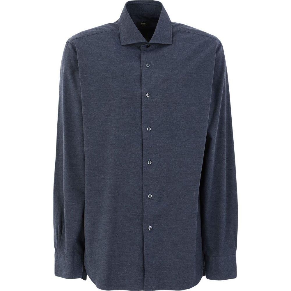 バルバ BARBA Napoli メンズ シャツ トップス【solid color shirt】Dark blue