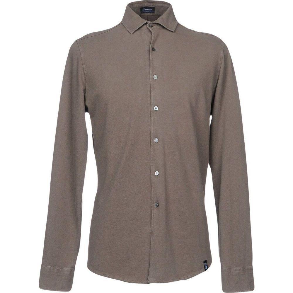 ドルモア DRUMOHR メンズ シャツ トップス【solid color shirt】Light brown