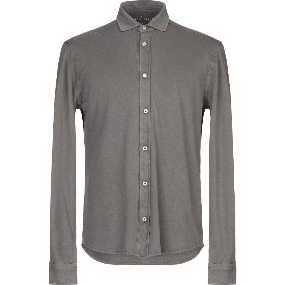 チルコロ1901 CIRCOLO 1901 メンズ シャツ トップス【solid color shirt】Lead