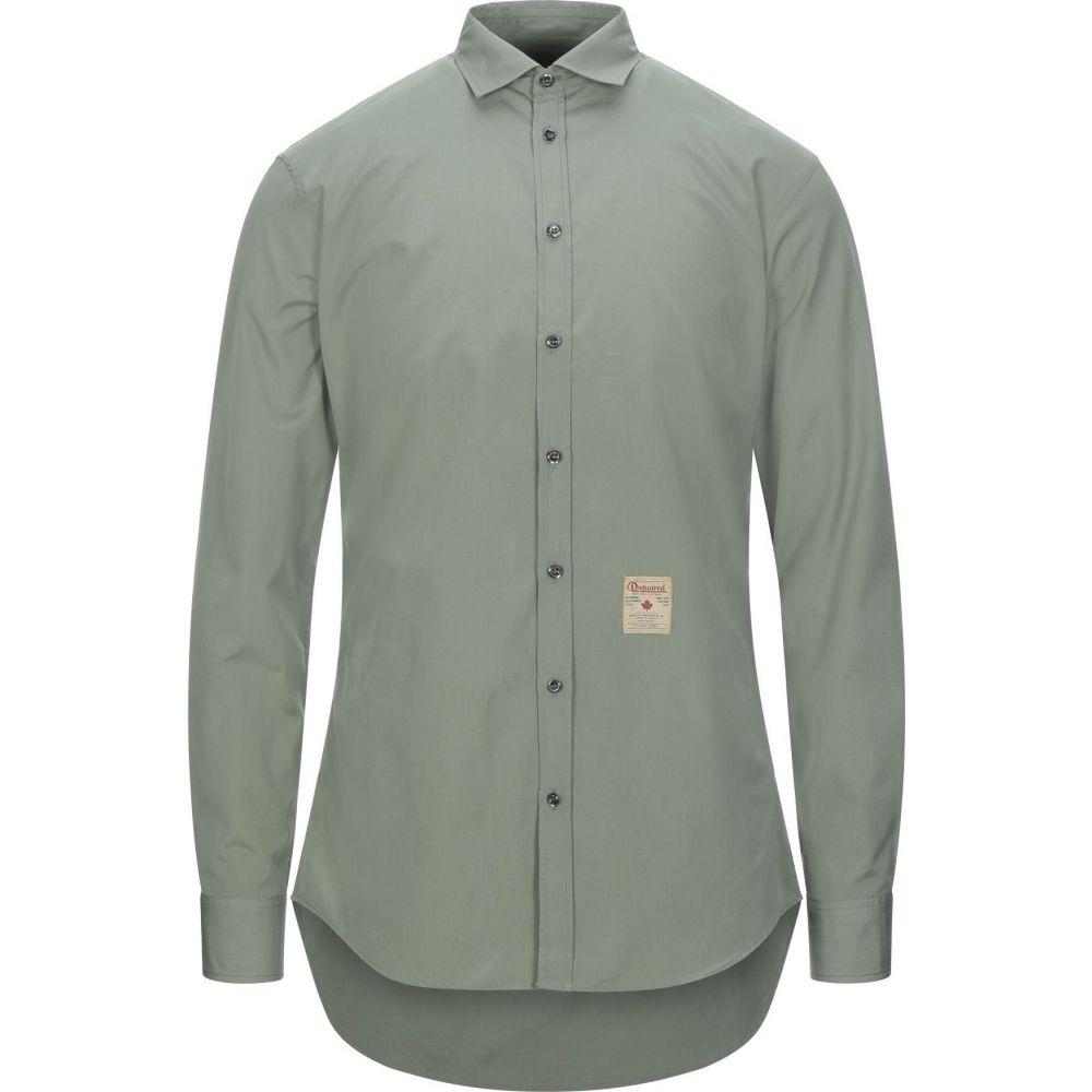 ディースクエアード DSQUARED2 メンズ シャツ トップス【solid color shirt】Military green