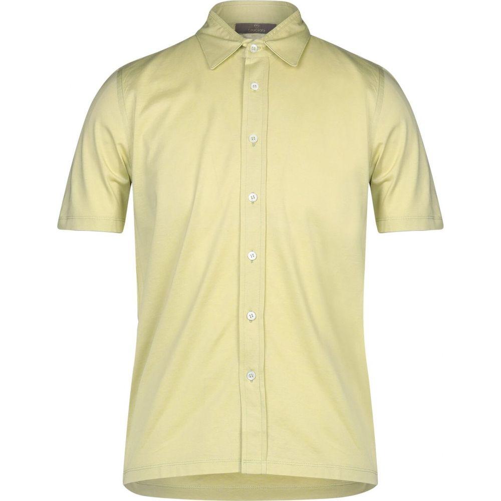 クルチアーニ CRUCIANI メンズ シャツ トップス【solid color shirt】Acid green