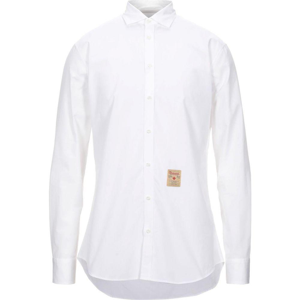 ディースクエアード DSQUARED2 メンズ シャツ トップス solid color shirt White 引出物 クリスマス 内祝 年越し