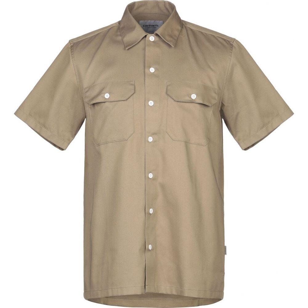 カーハート CARHARTT メンズ シャツ トップス【solid color shirt】Sand
