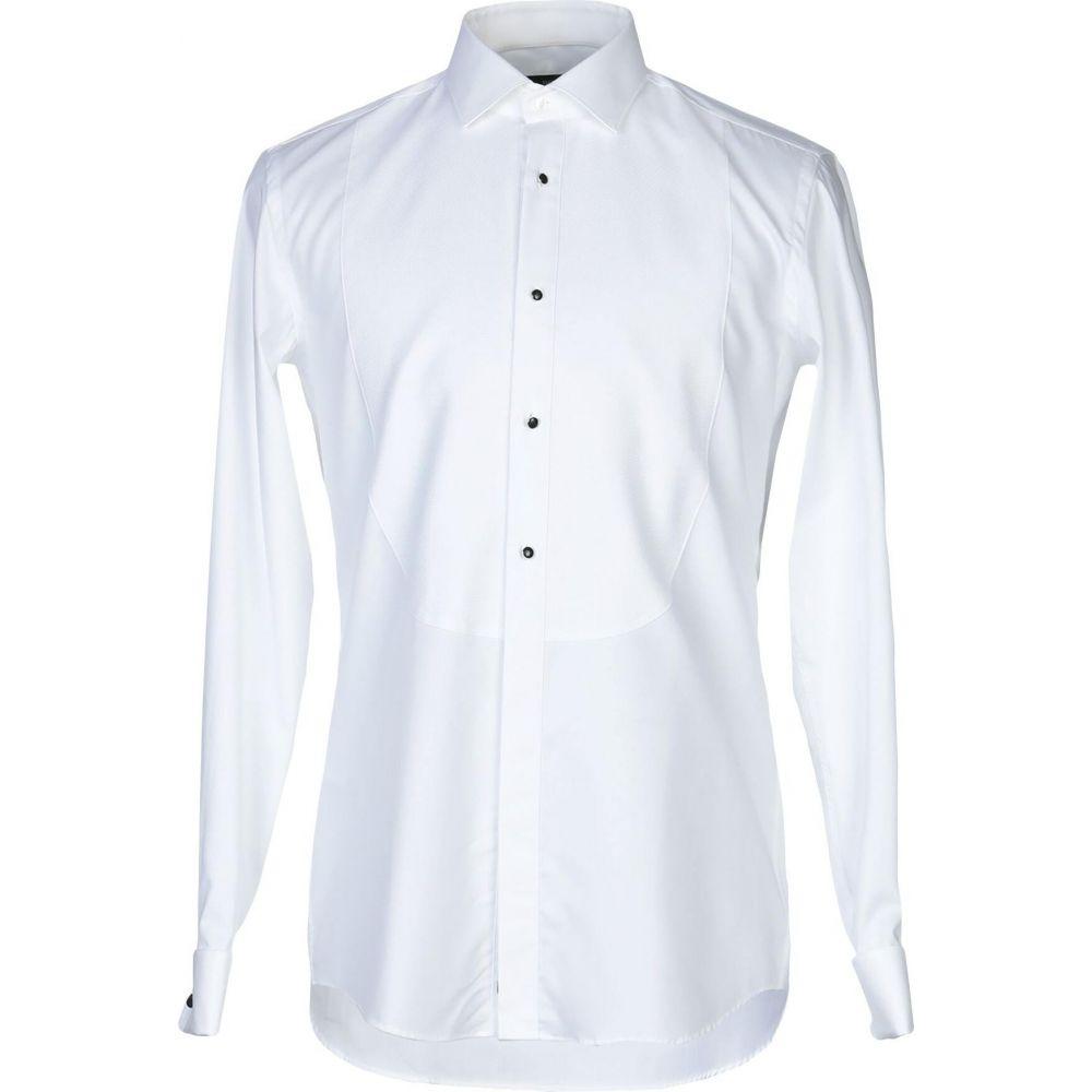ヒューゴ ボス BOSS HUGO BOSS メンズ シャツ トップス【solid color shirt】White