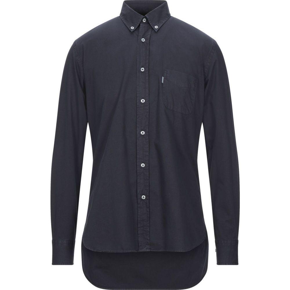 バブアー BARBOUR メンズ シャツ トップス【solid color shirt】Dark blue