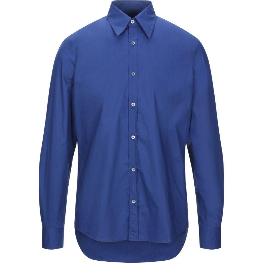 ドリス ヴァン ノッテン DRIES VAN NOTEN メンズ シャツ トップス【solid color shirt】Bright blue