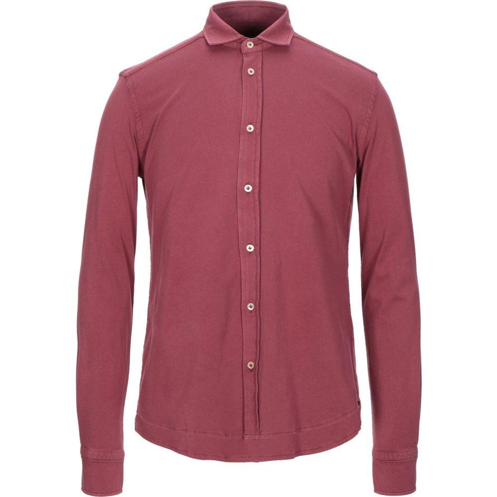 チルコロ1901 CIRCOLO 1901 メンズ シャツ トップス【solid color shirt】Red