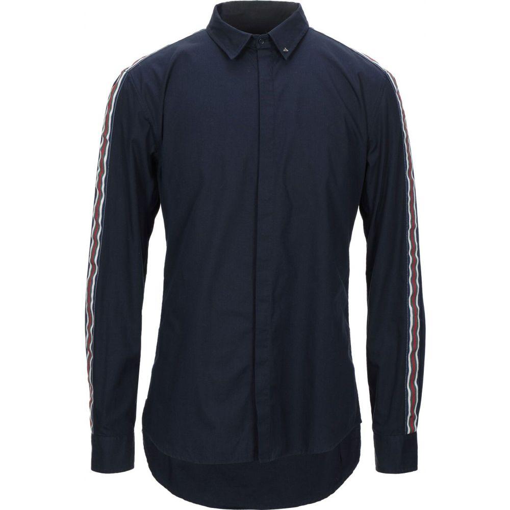 ベルナ BERNA メンズ シャツ トップス【solid color shirt】Dark blue