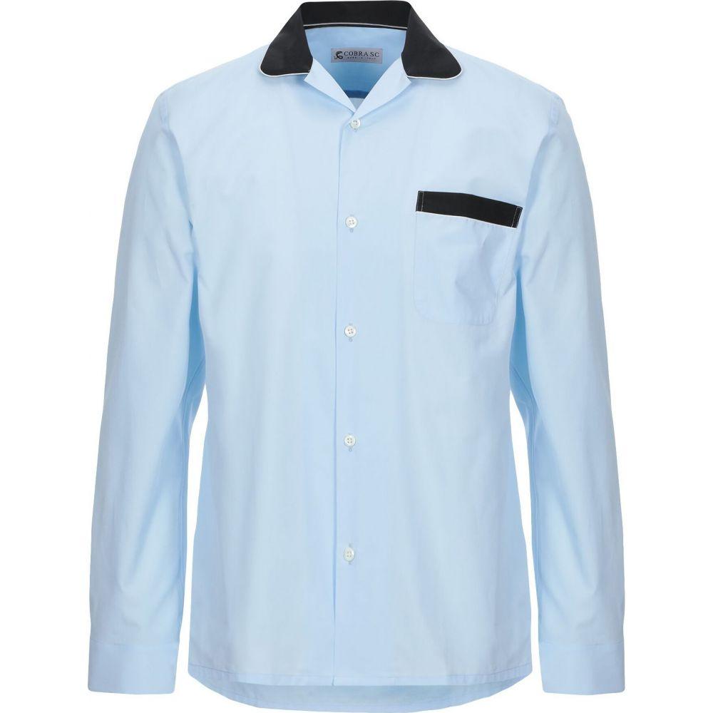 コブラ S.C. COBRA S.C. メンズ シャツ トップス【solid color shirt】Sky blue