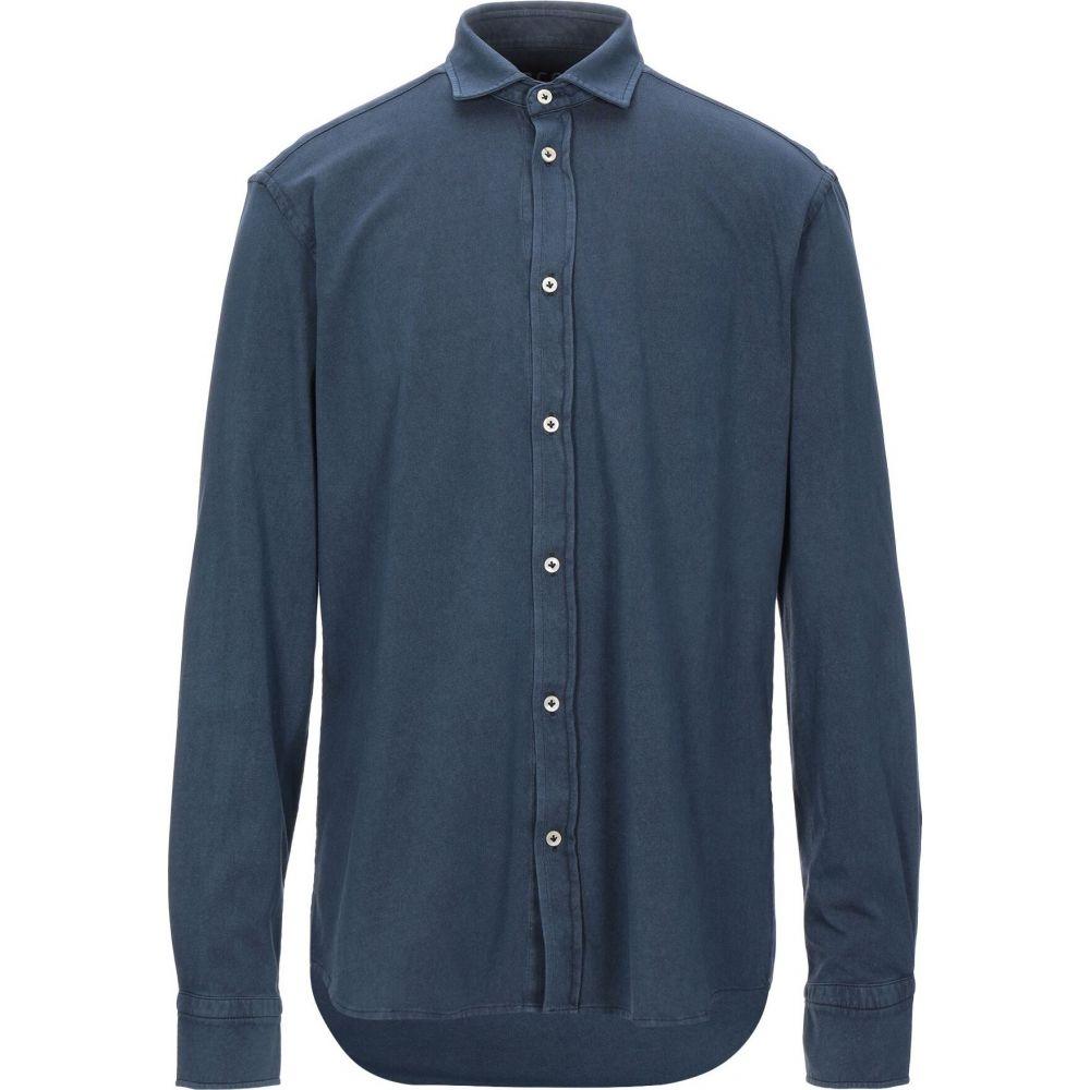 チルコロ1901 CIRCOLO 1901 メンズ シャツ トップス【solid color shirt】Dark blue