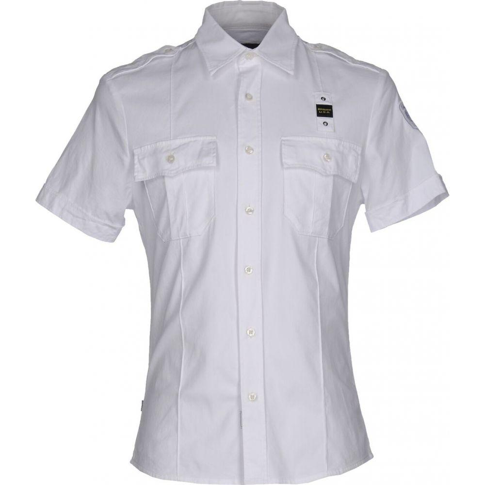 ブラウアー BLAUER メンズ シャツ トップス【solid color shirt】White