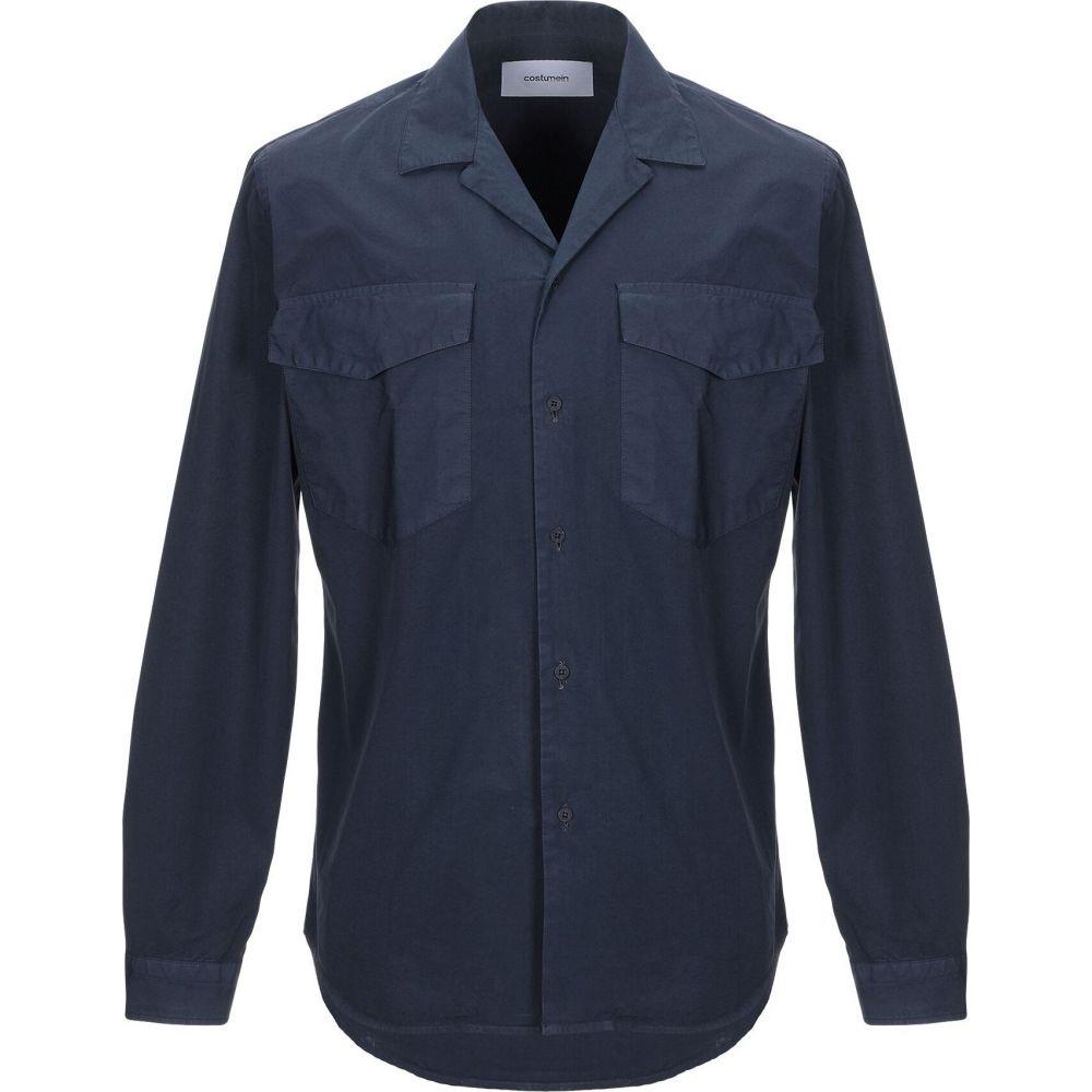 コストメイン COSTUMEIN メンズ シャツ トップス【solid color shirt】Dark blue
