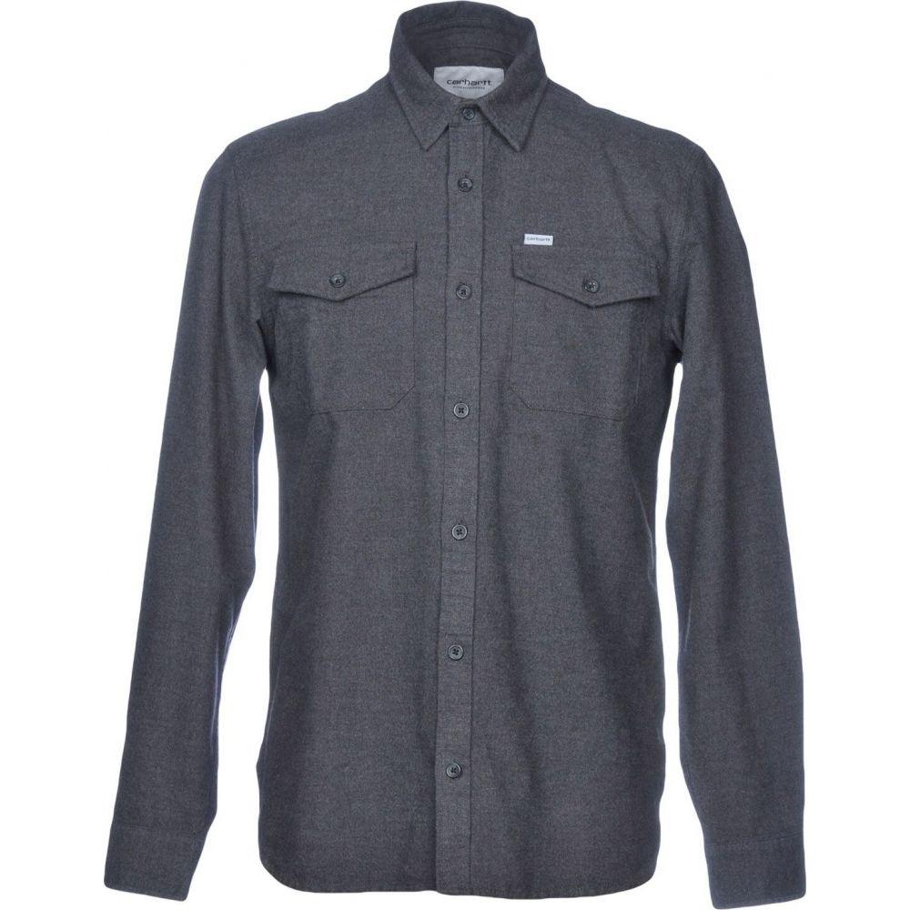 カーハート CARHARTT メンズ シャツ トップス【solid color shirt】Steel grey