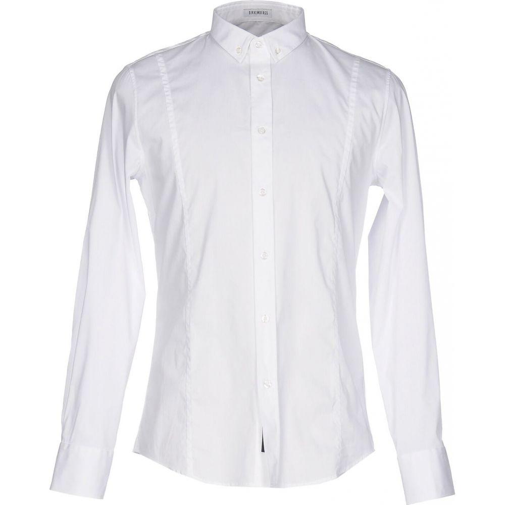 ビッケンバーグ BIKKEMBERGS メンズ シャツ トップス【solid color shirt】White