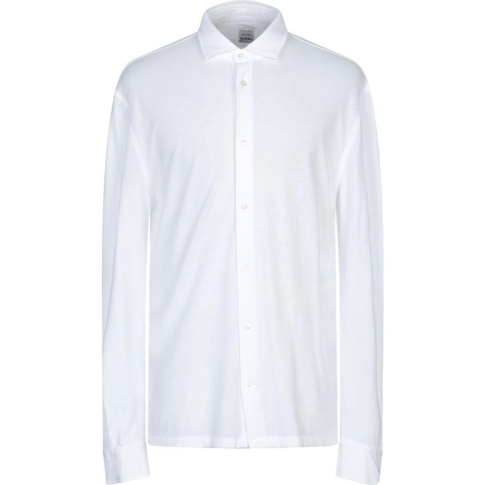 バルバ BARBA Napoli メンズ シャツ トップス【solid color shirt】White