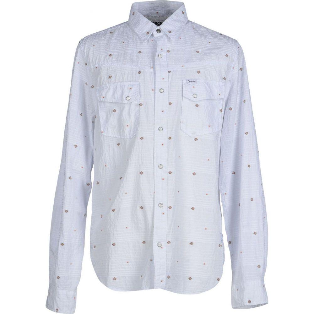 バブアー BARBOUR メンズ シャツ トップス【solid color shirt】White