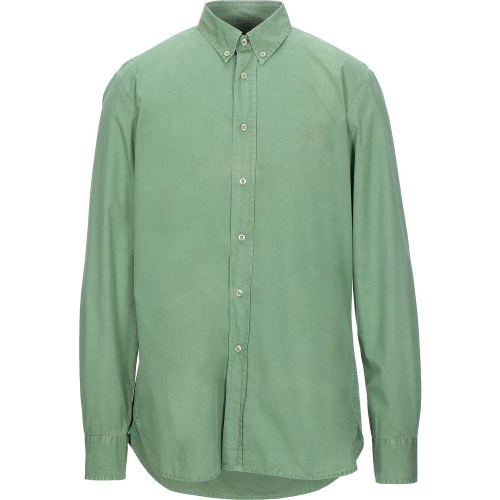 バブアー BARBOUR メンズ シャツ トップス【solid color shirt】Green