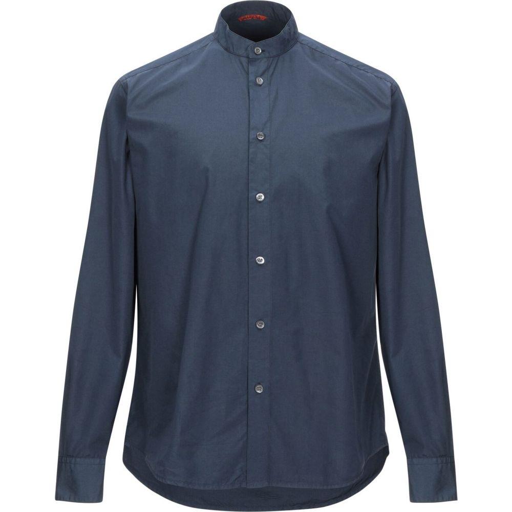バレナ BARENA メンズ シャツ トップス【solid color shirt】Dark blue