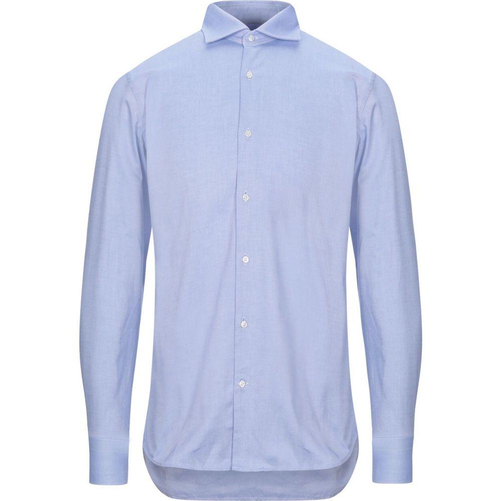 キャリバン CALIBAN メンズ シャツ トップス【solid color shirt】Sky blue