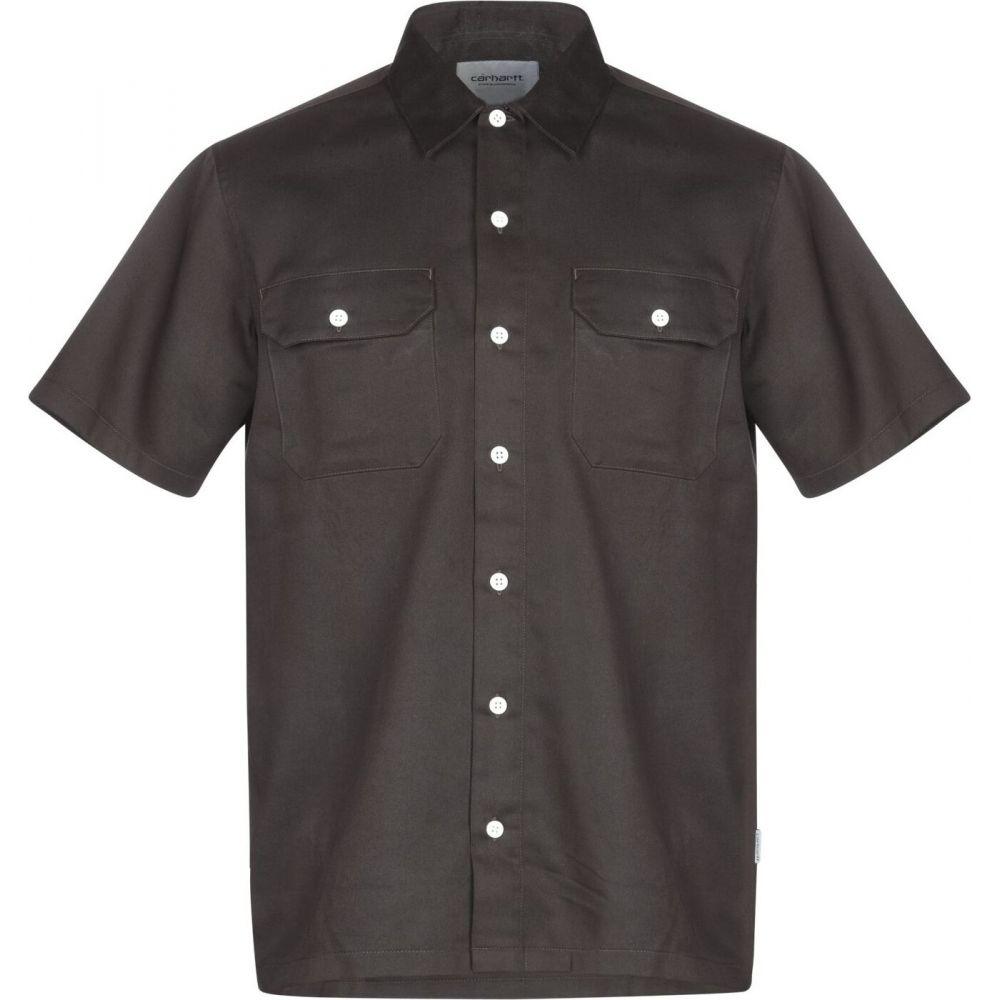 カーハート CARHARTT メンズ シャツ トップス【solid color shirt】Dark brown