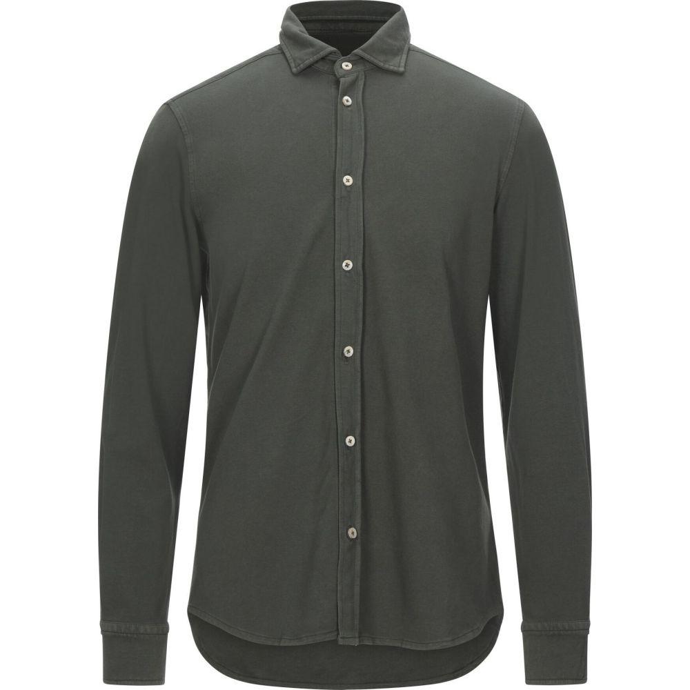 チルコロ1901 CIRCOLO 1901 メンズ シャツ トップス【solid color shirt】Military green