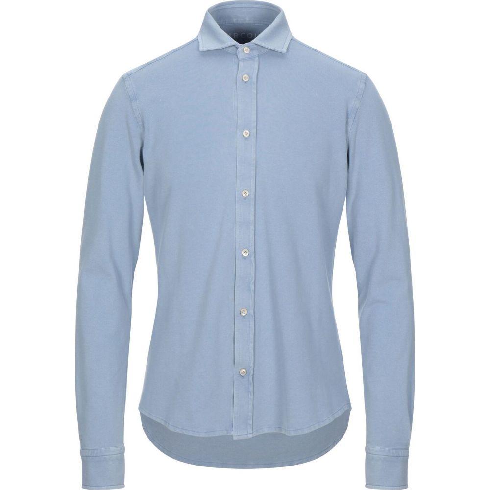 チルコロ1901 CIRCOLO 1901 メンズ シャツ トップス【solid color shirt】Sky blue