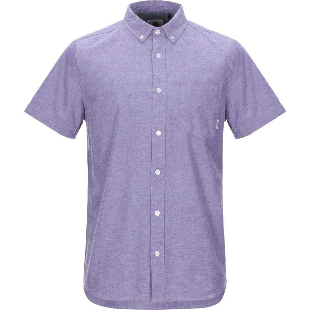 エレメント ELEMENT メンズ シャツ トップス【solid color shirt】Purple