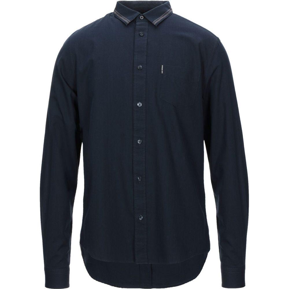ベンシャーマン BEN SHERMAN メンズ シャツ トップス【solid color shirt】Dark blue