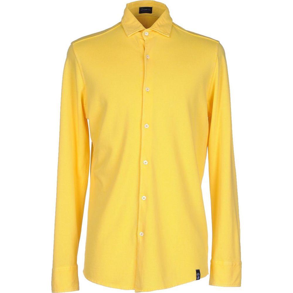 ドルモア DRUMOHR メンズ シャツ トップス【solid color shirt】Yellow