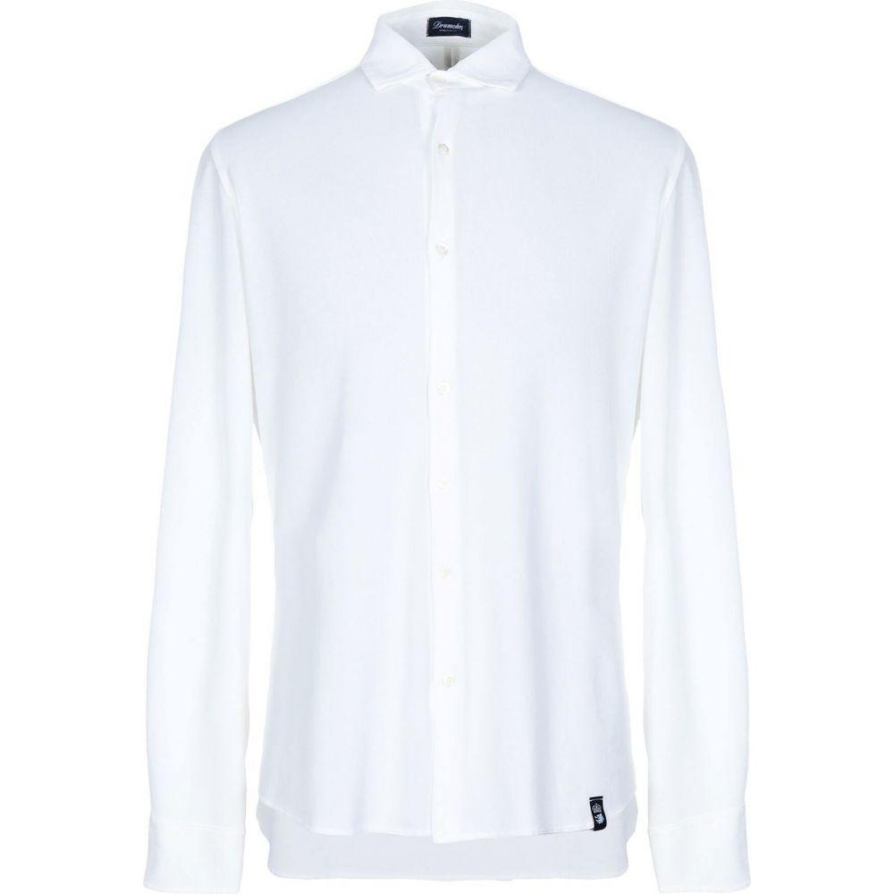 ドルモア DRUMOHR メンズ シャツ トップス【solid color shirt】White
