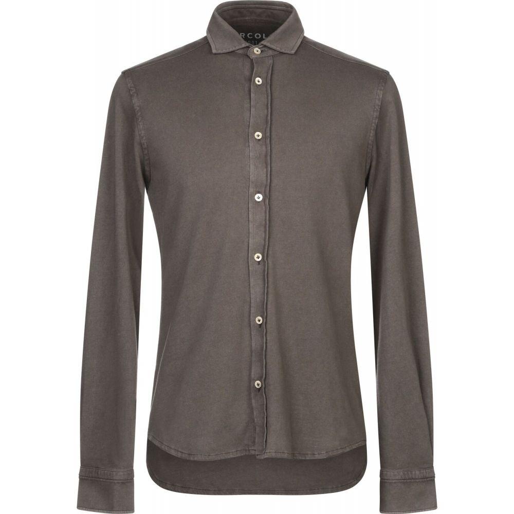 チルコロ1901 CIRCOLO 1901 メンズ シャツ トップス【solid color shirt】Dark brown