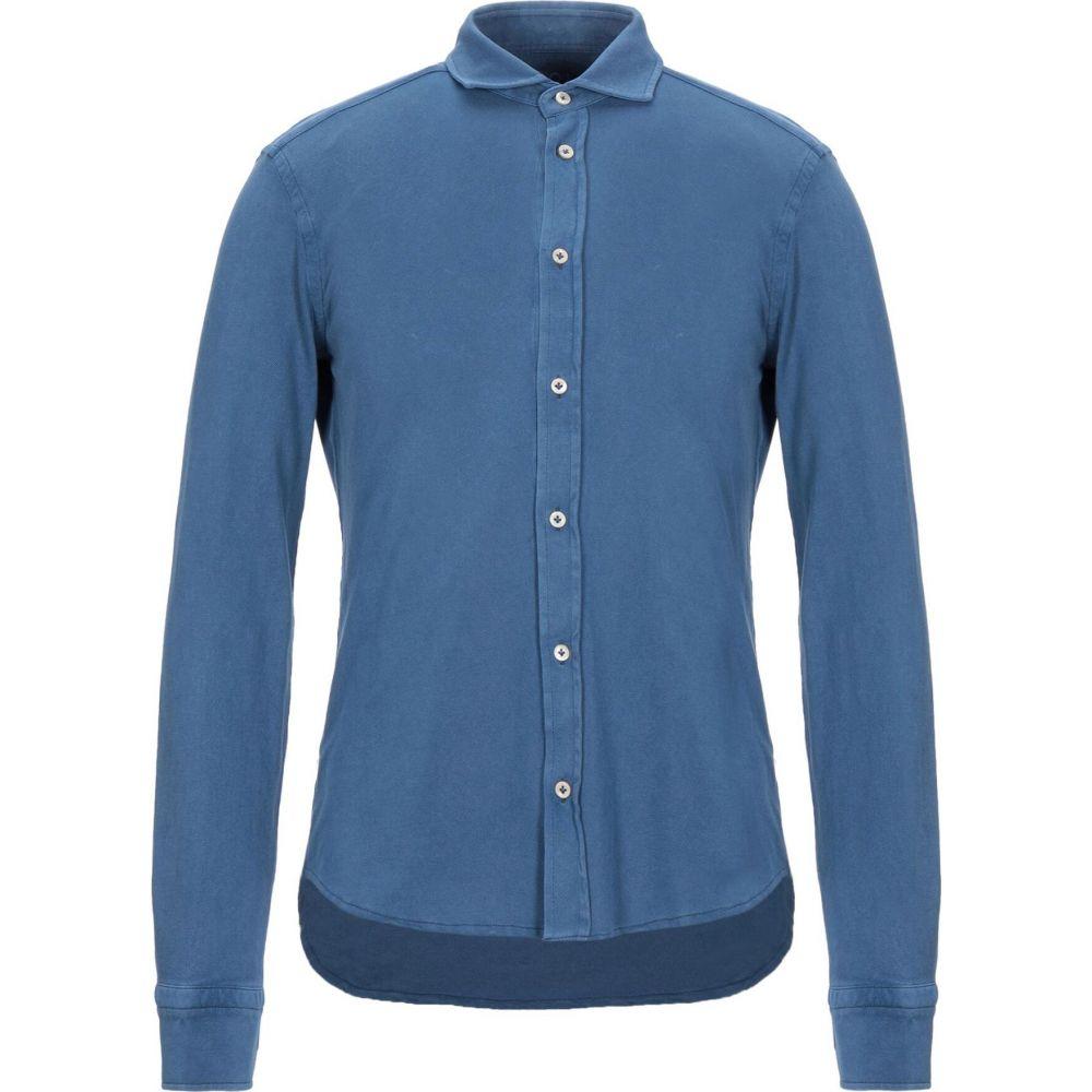 チルコロ1901 CIRCOLO 1901 メンズ シャツ トップス【solid color shirt】Blue