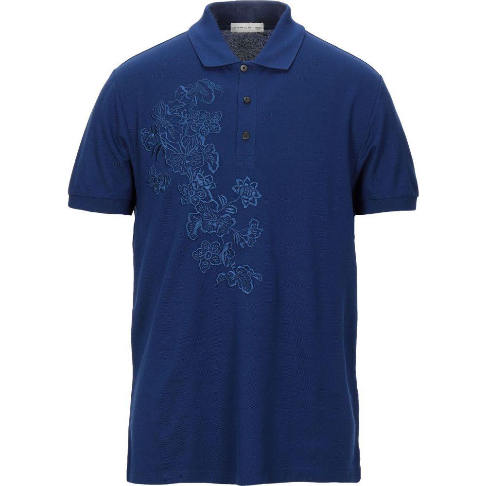 エトロ ETRO メンズ ポロシャツ トップス【polo shirt】Blue