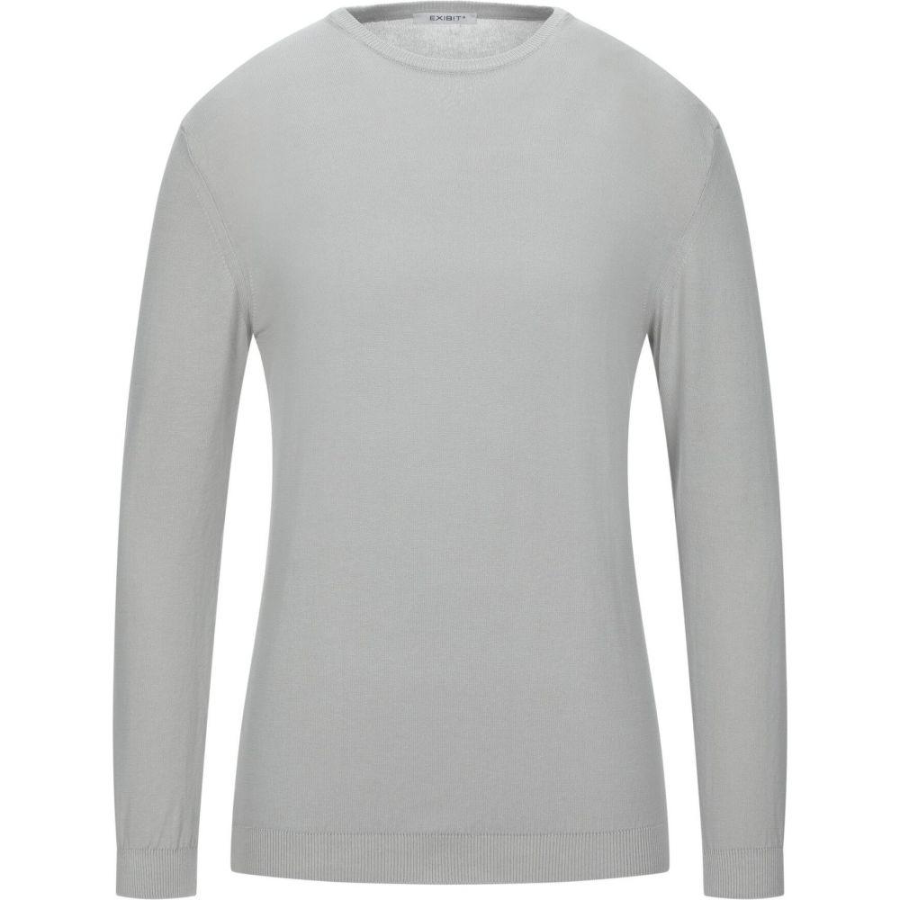 エクシビット メンズ トップス ニット セーター 受賞店 サイズ交換無料 Light sweater 超定番 EXIBIT grey