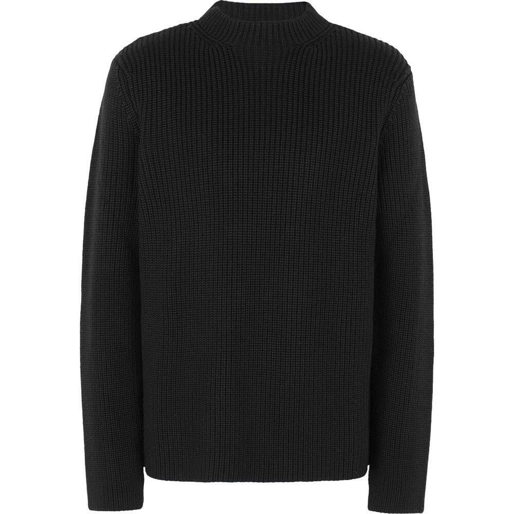 オット バイ ユークス メンズ トップス NEW ARRIVAL ニット セーター Black blend サイズ交換無料 by crew-neck wool YOOX 業界No.1 8 sweater